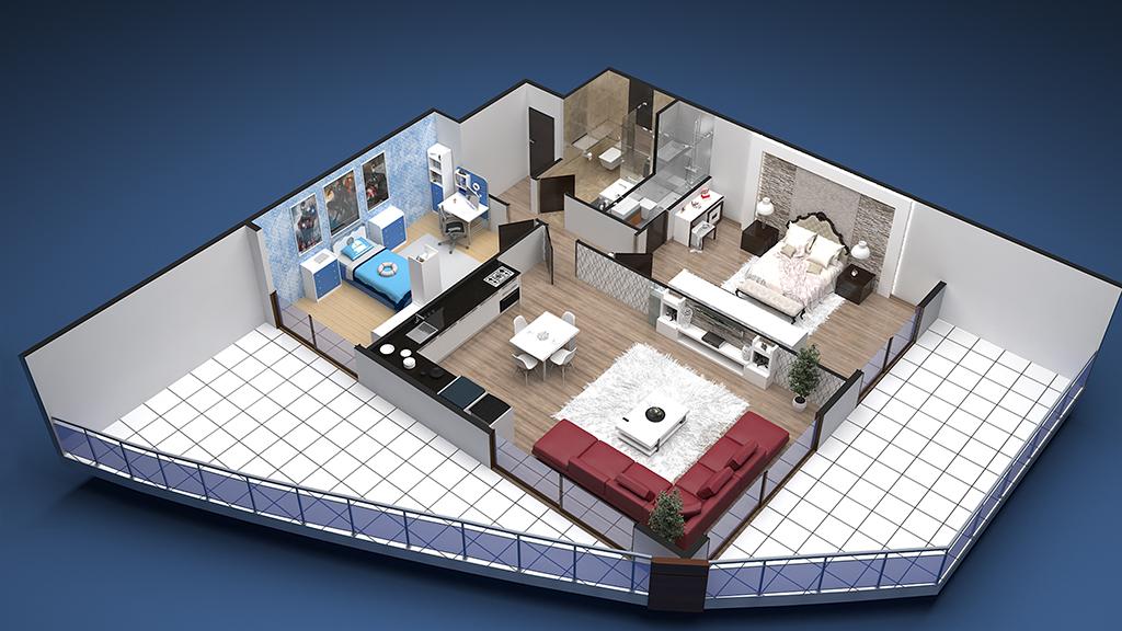 2+1 Apartment
