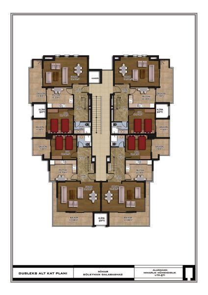 Floorplan Duplex Lower Floor