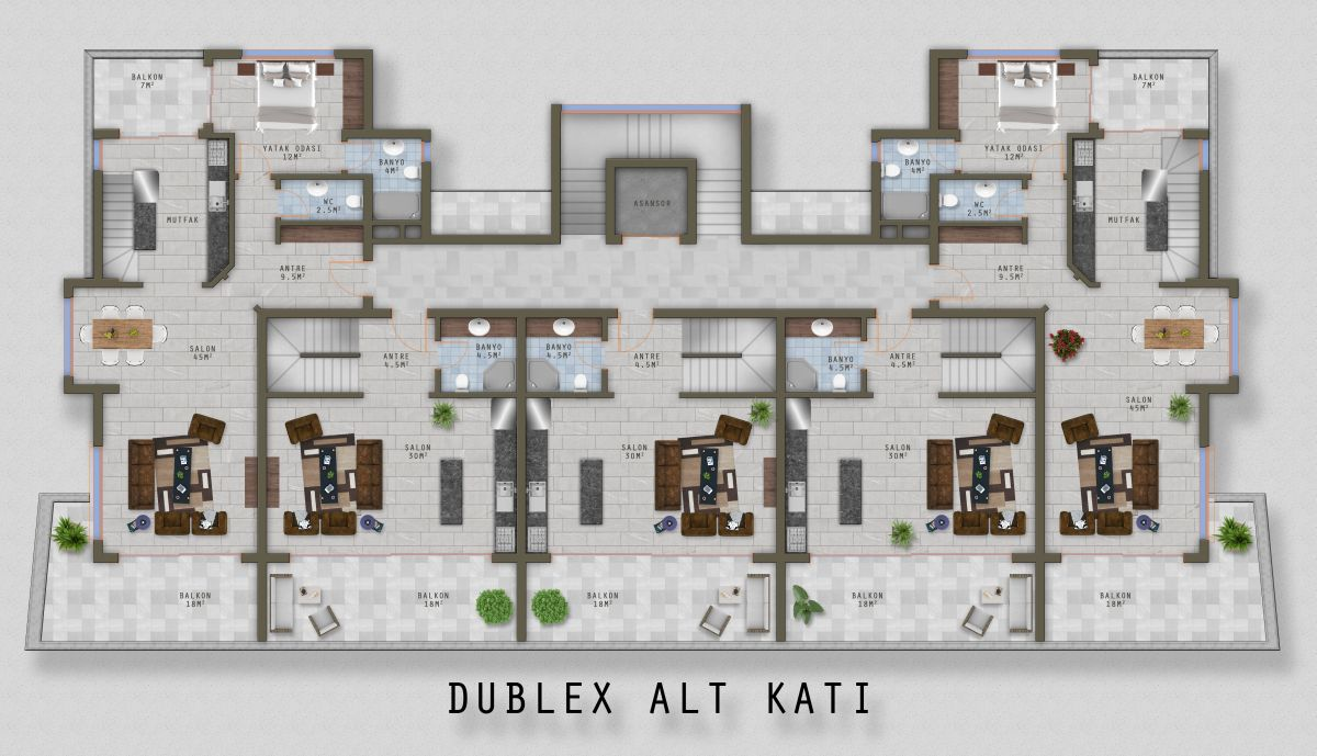 Дублекс 1 этаж