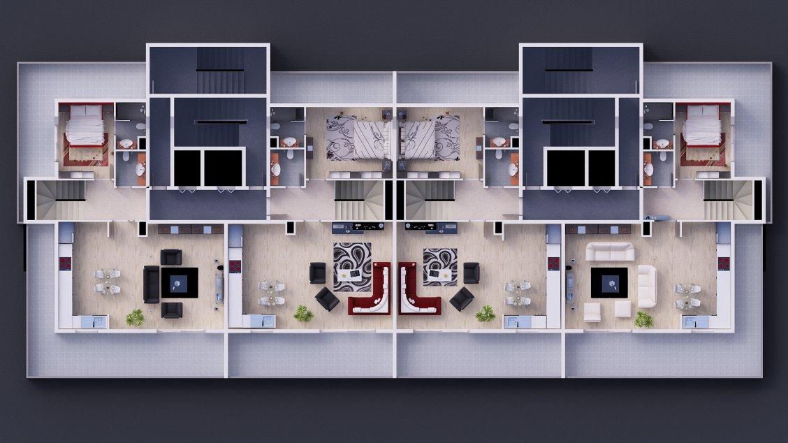 План второго этажа дублексов