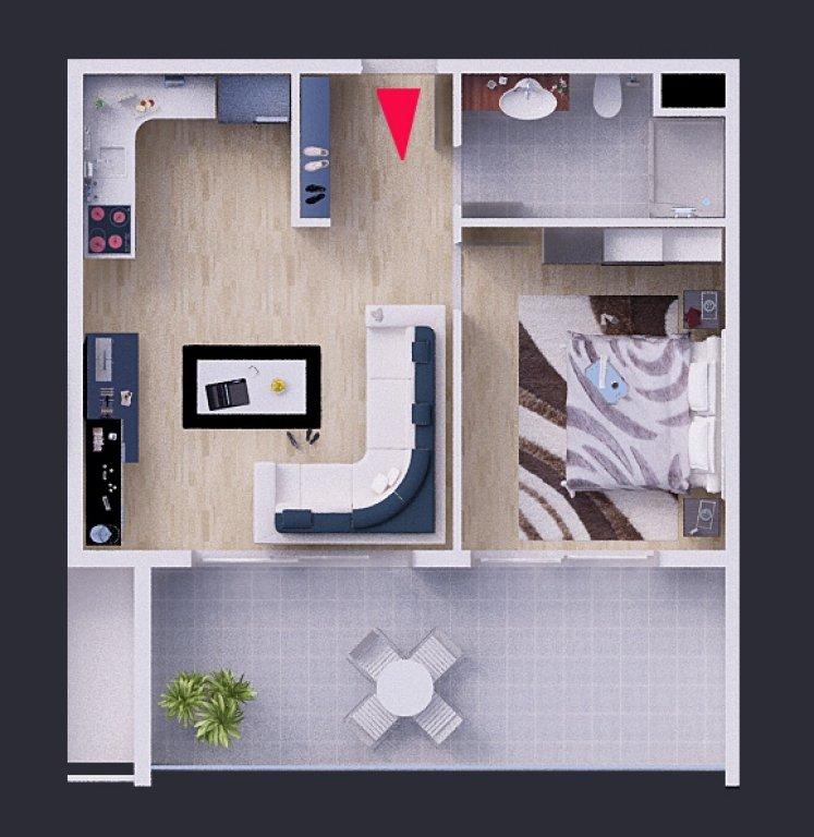 План квартир 1+1