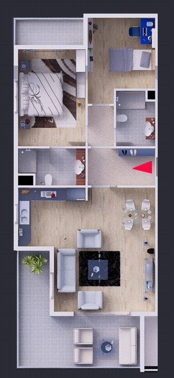 План угловых квартир 2+1