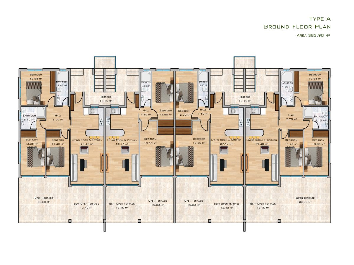 Block A Erdgeschoss
