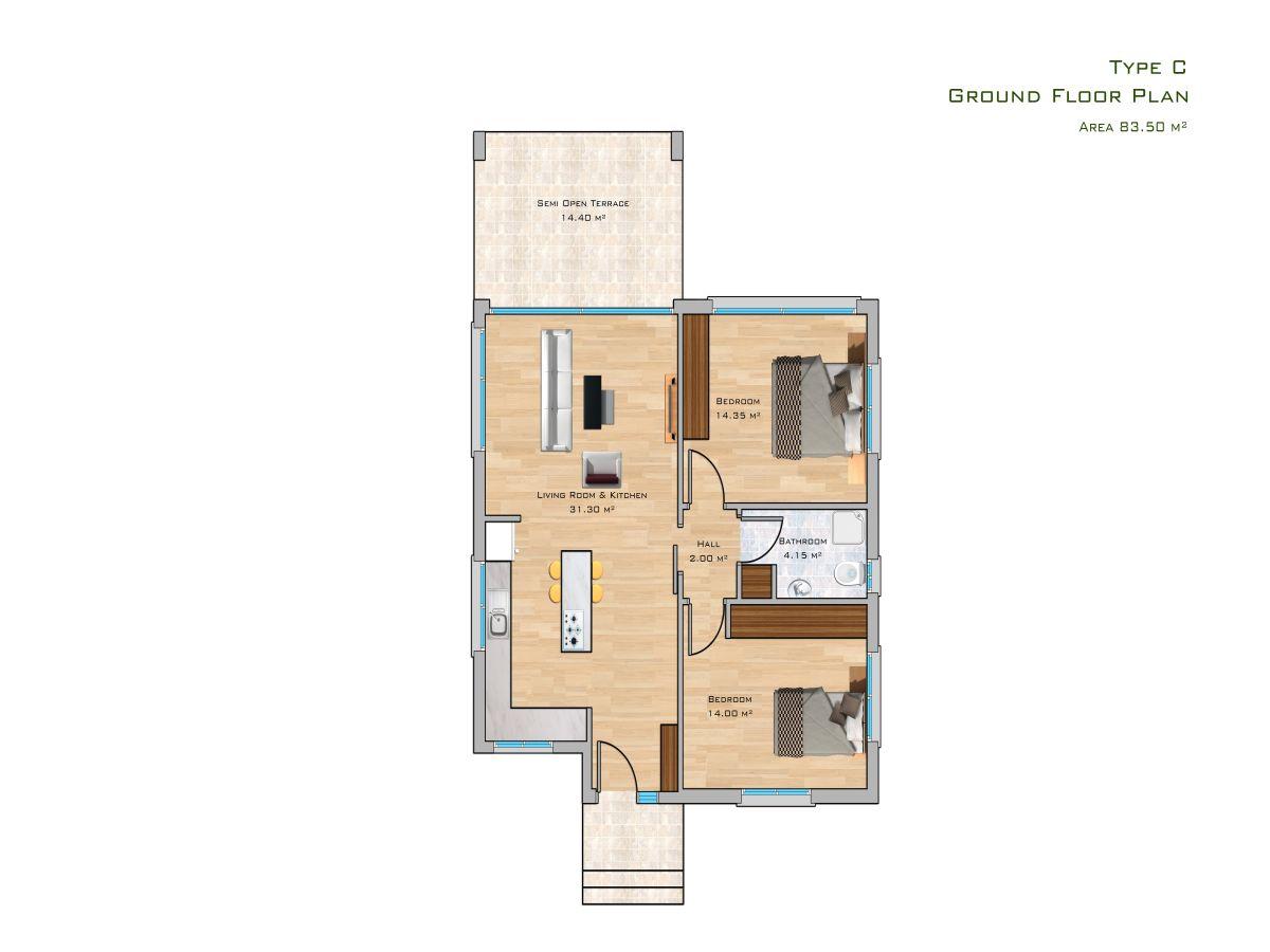 Block C Erdgeschoss