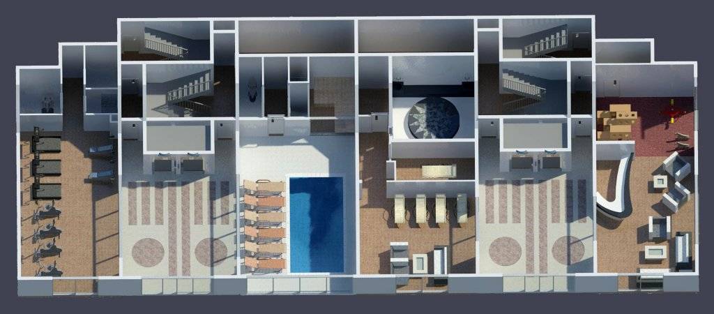 План этажа с социальными услугами