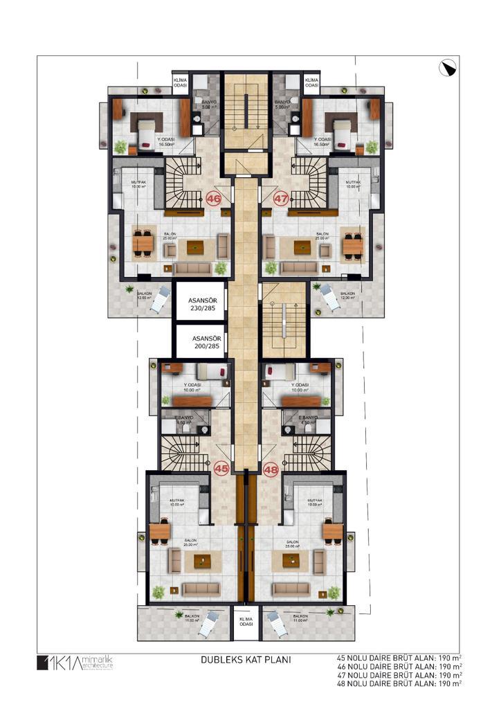3+1 Duplex down