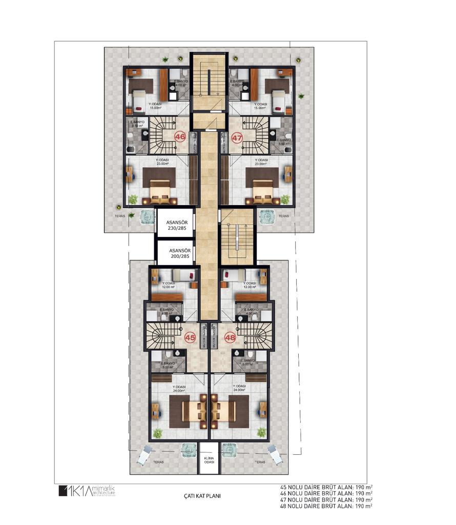 3+1 Duplex up